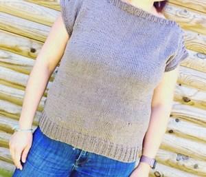 patron tricot pull manches courtes pour femme