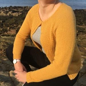 patron gilet jaune femme automne