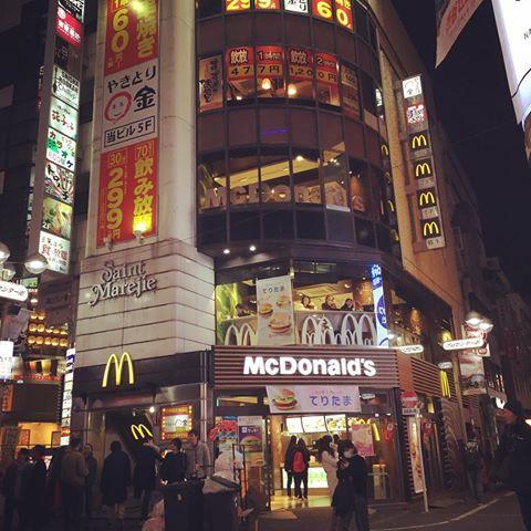 渋谷センター街のマクドナルド