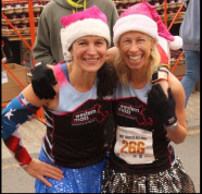 Karin George and I at the finish! Master Ladies ROCK!