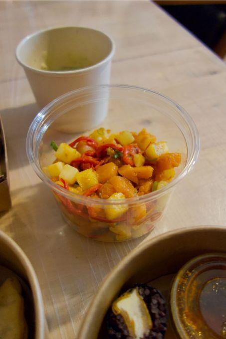 salade de pomme de terre, courges, piquillos et paprika fumé