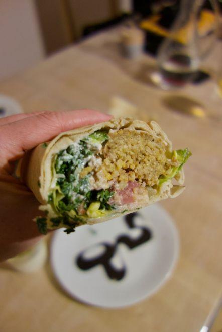 sandwich végétarien au comptoir libanais à nantes