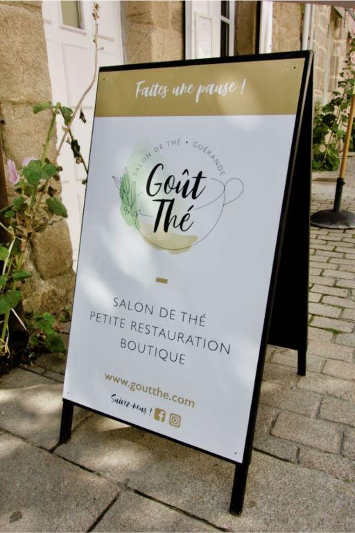 pancarte du salon de thé goût'thé