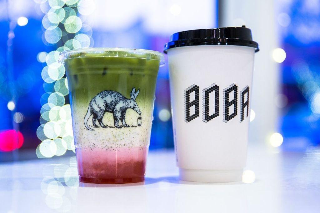 deux bubble teas vu de près