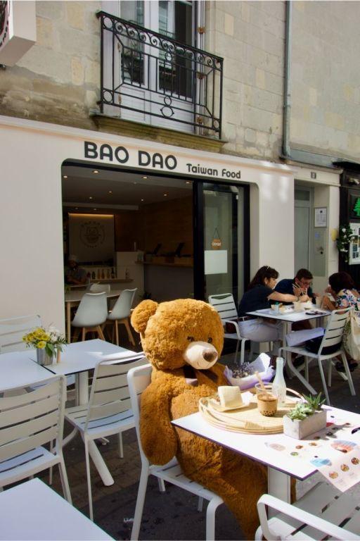 terrasse du restaurant taïwanais BAO DAO à Nantes