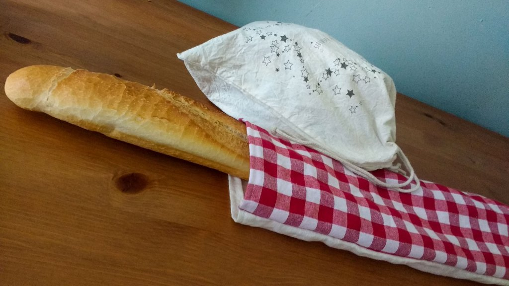 Bread in cloth bags