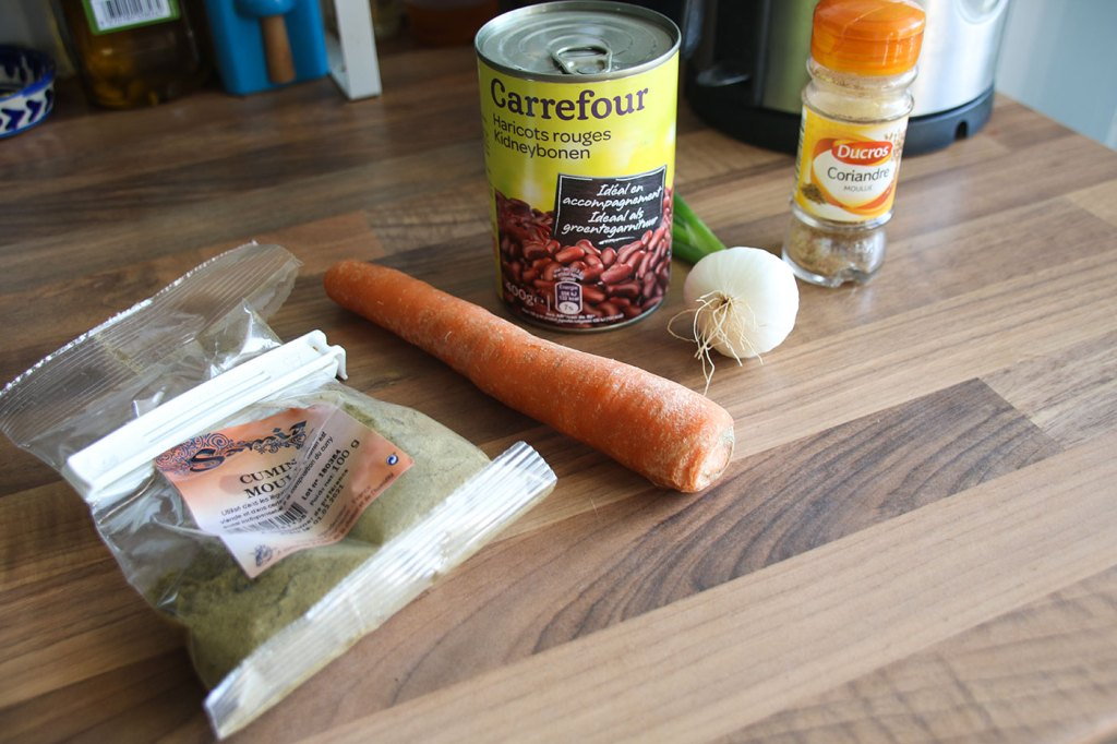 Kidney Bean Burger Ingredients