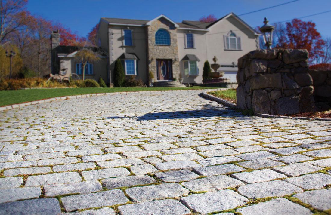granite cobblestones nantucket pavers