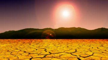 baked desert soil