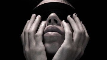 blindfolded face