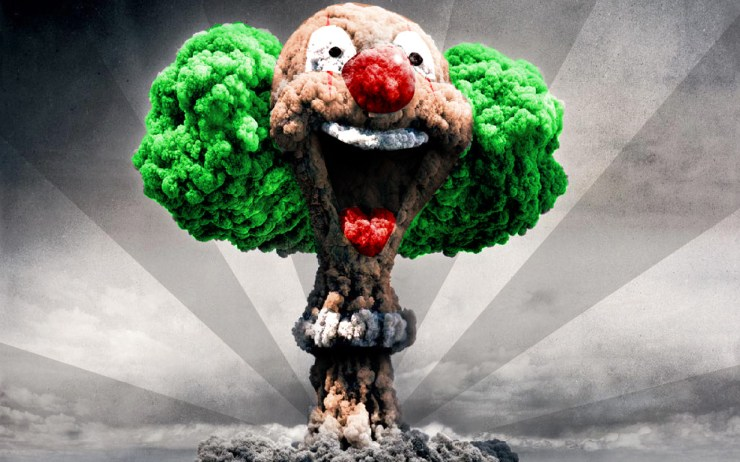 clown nuclear - no to bomb