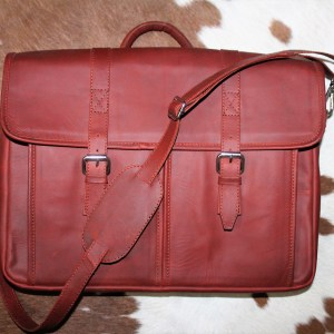 Ox blood laptop bag