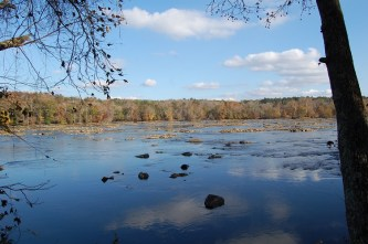 Looking out across the Catawba River