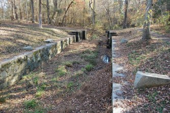 The guardlock to lower boats into the canal from the Catawba River