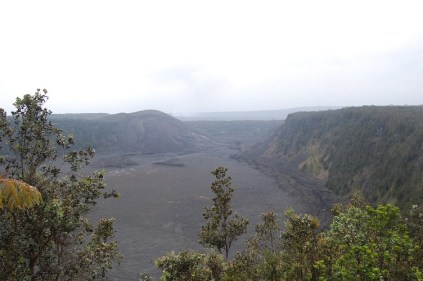 Looking out over the crater