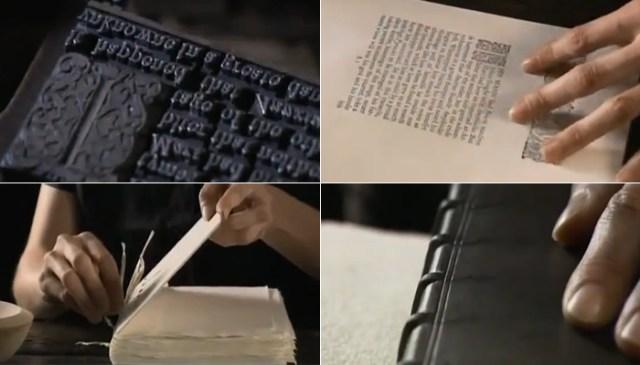 Как печатали книги в древности? Очень познавательное видео.