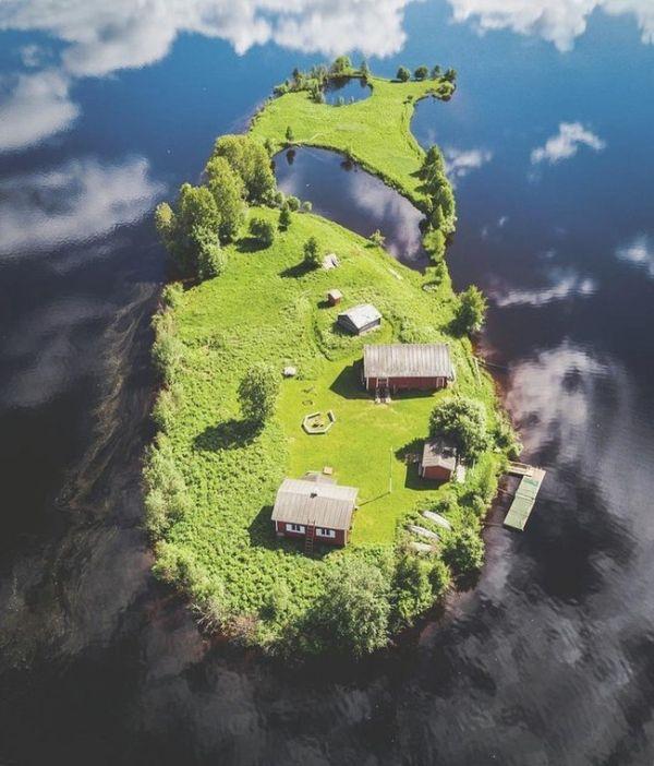 4 сезоны на сказочному острове на реке Котисаари