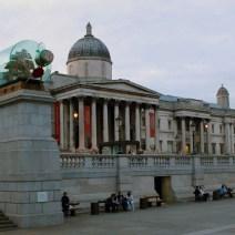 Fachada do museu National Gallery em Londres
