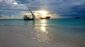Por do sol da ilha de Zanzibar