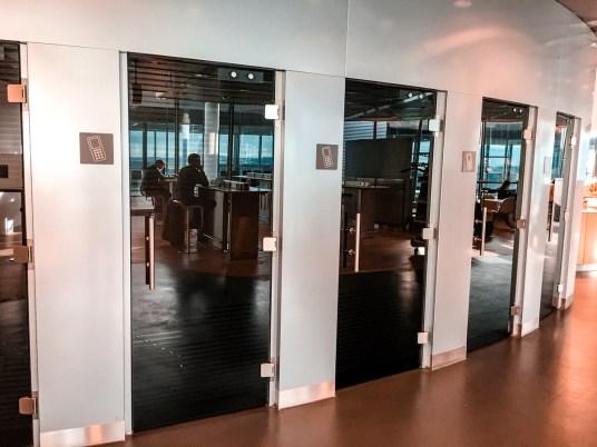 Sala VIP classe executiva Lufthansa no aeroporto de Frankfurt