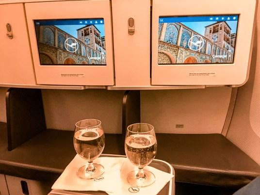 Classe executiva Lufthansa B747-400 - Frankfurt para Teerã