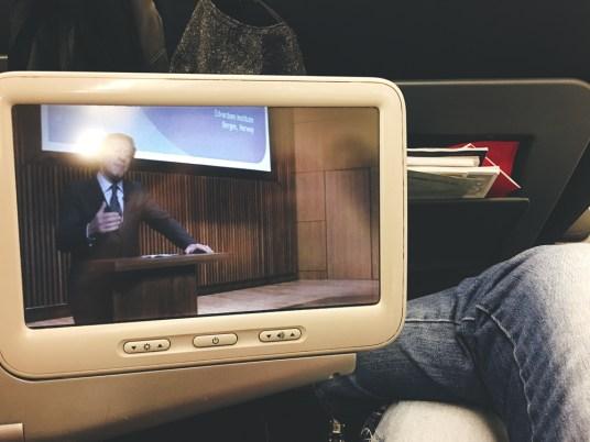 Classe executiva da Turkish Airlines no avião A321 de Teerã para Istambul