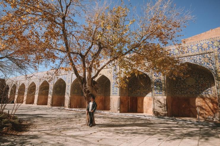 Uma das lindas paisagens de Isfahan