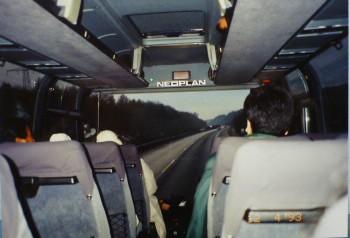 ザルツブルクへ向かう高速バスの中