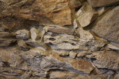 Pormenor na parede interior da Casa das Pedras Parideiras