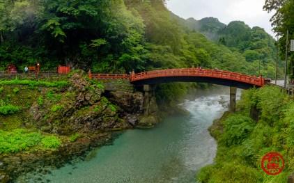 A sagrada ponte de Shin-kyo em Nikko.