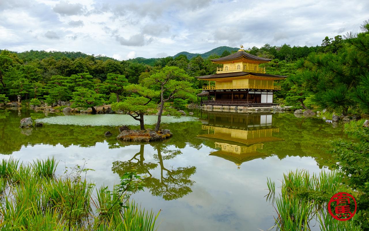 Templo de ouro de Kyoto.