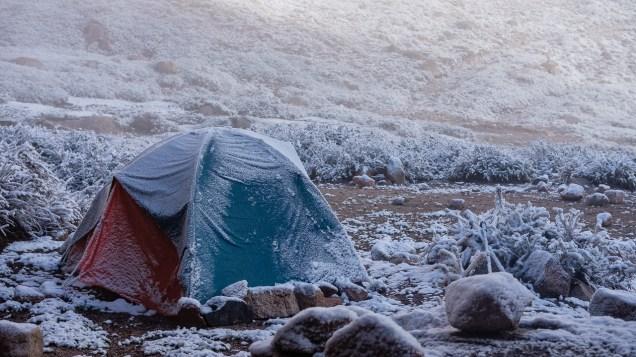 Manhã fria em Arenales.