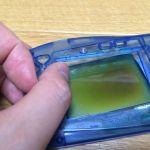 液晶が黒ずんだワンダースワンの偏光板を交換して直してみた。