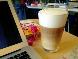 Latte at OSS Cafe