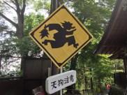 Tengu warning sign