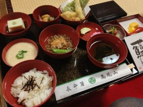 Shōjin ryoōri lunch