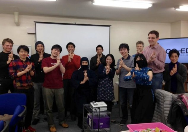 Group photo with ninjas