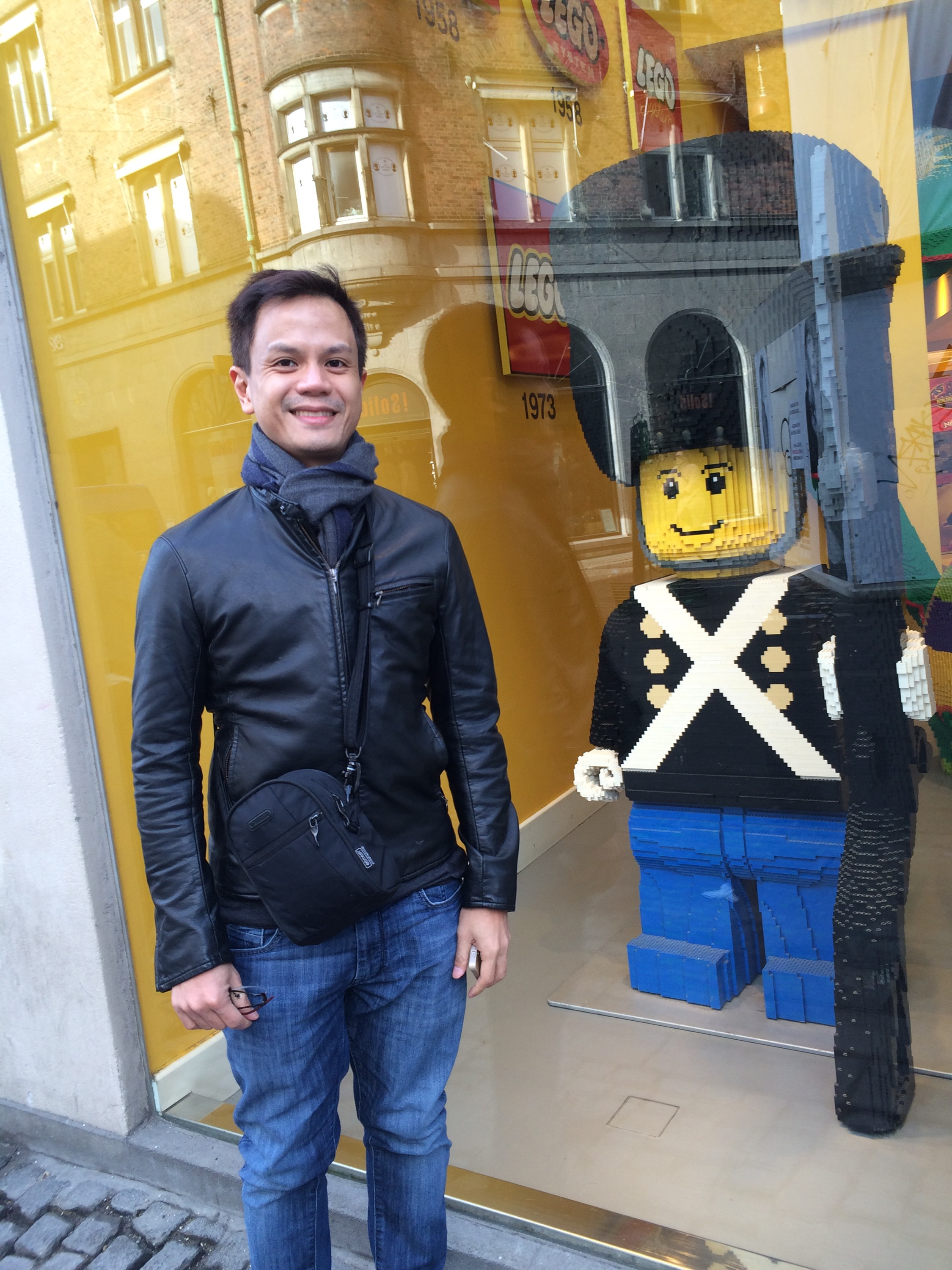 Drew at the Lego Store