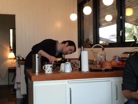 Joen at his kitchen