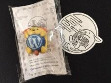 WordCamp Kyoto 2017 swag: Wapuu Keychain & sticker