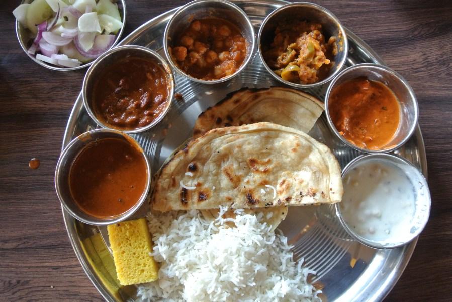 My Punjabi thali.