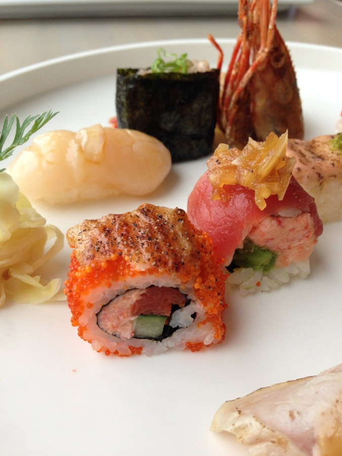 Selections include the Miku roll (salmon, crab, uni and cucumber rolled in tobiko) and the Sunset roll (tuna, cucumber and tomato anchovy relish).
