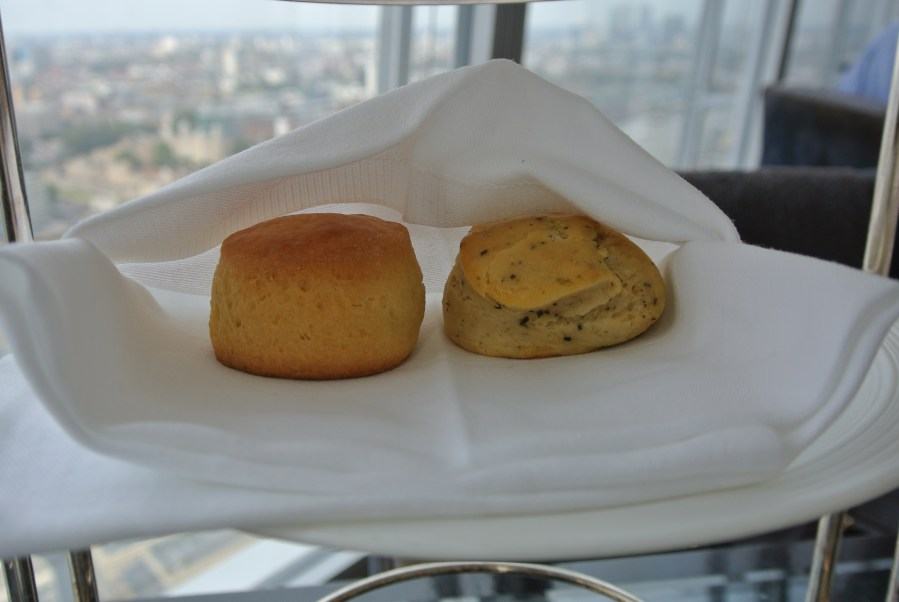Scones from the South East Asian Afternoon Tea - regular and black sesame