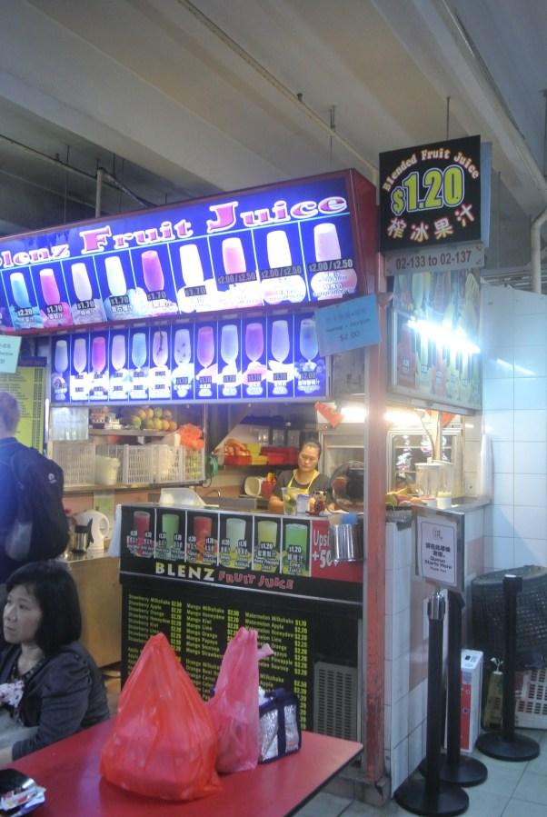 Blenz Fruit Juice hawker stall.