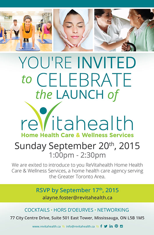 Flyer for ReVitahealth Launch
