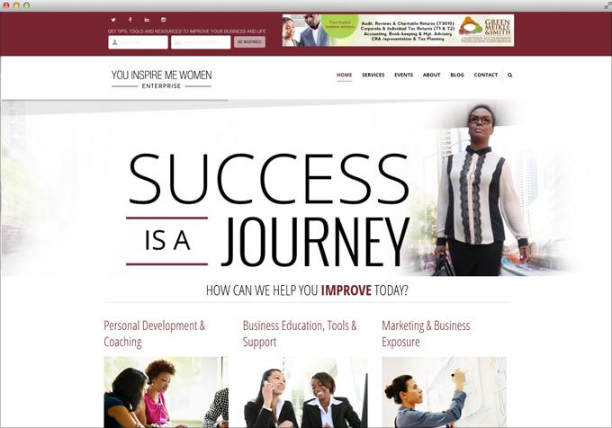 Website Design for You Inspire Me Women Enterprise