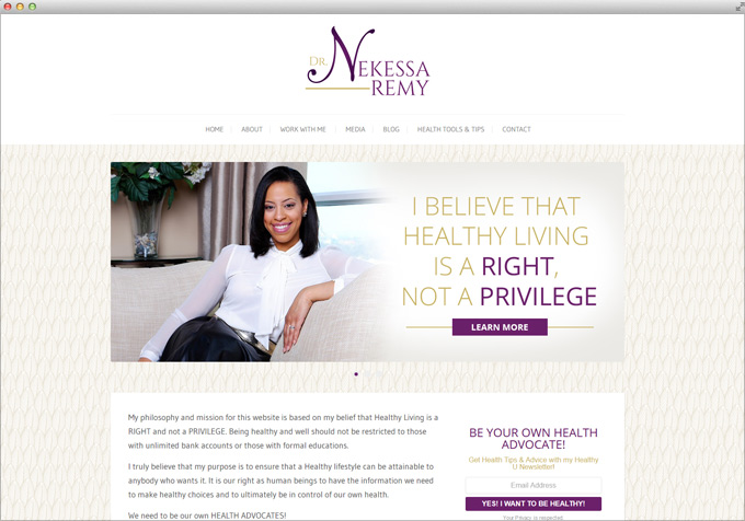 Website for Chiropractor in Toronto Dr Nekessa Remy