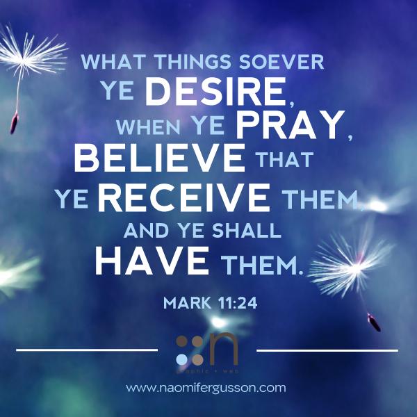 Pray, Believe, Recieve