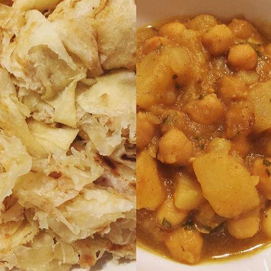 roti and channa