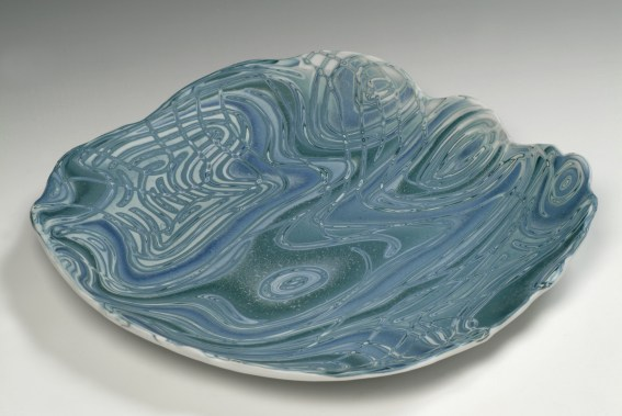 Platter with Shaped Edge